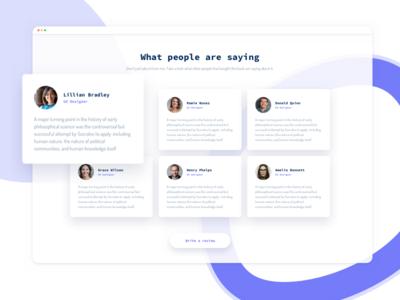 Testimonials - E-book Landing Page