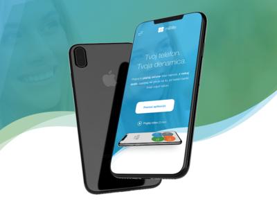 mBills - Mobile Wallet app landing page