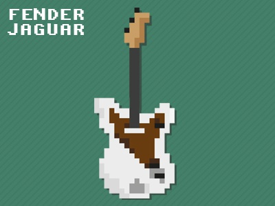 Fender Jaguar - First step in pixel art pixel art amiga paint deluxe 1200 jaguar fender