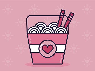 Sad Girls Valentine's Day Starter Pack: Item One single lo mein chopsticks food asian noodles takeout chinese sad girls valentines day