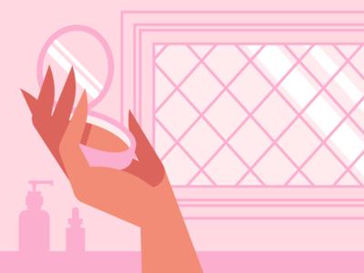 Hand Practice #1 powder foundation serum lotion vanity beauty bathroom hand compact makeup