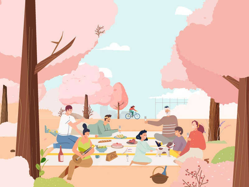 Picnic family motiongraphic spring picnic