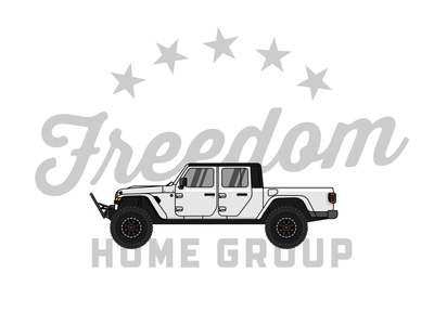 Freedom Home Group 3 illustration vector design realtor real estate badge branding logo