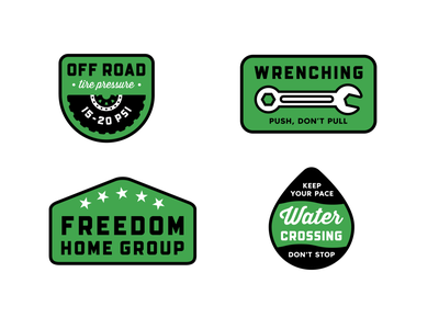 Freedom Home Group 4 vector green realtor real estate badge branding logo