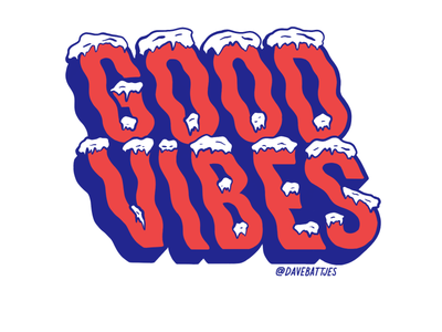 Good Vibes Icy Edition sticker icy letters good vibes winter icy lettering