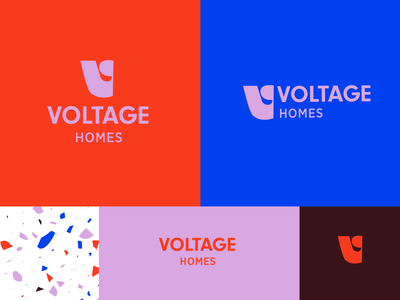 Voltage Homes Logo bright voltage real estate branding logodesign brand logo