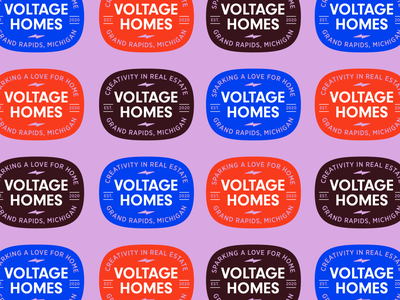Voltage Homes Badge voltage bright logo badge branding realtor logo real estate realtor