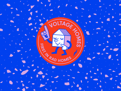 Voltage Homes Badge character home terrazzo house bagde realtor logo real estate realtor voltage