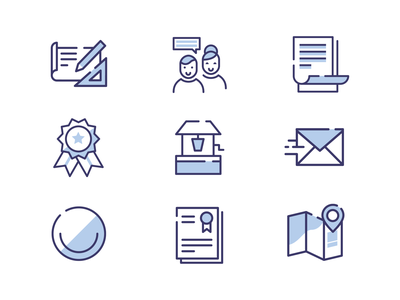Star Title Icons title branding design blue icon