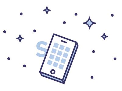 Phone? title vector blue illustration icon