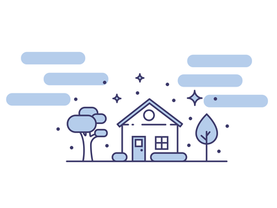 Home Sweet Home title home house blue vector illustration icon