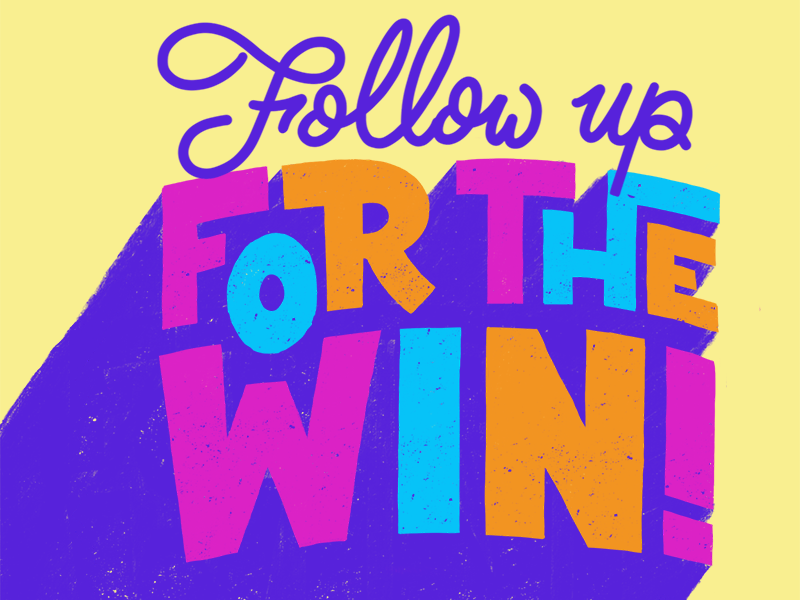 For The Win art direction design lettering procreate
