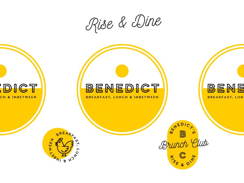 Benedict Logo benedict brunch breakfast branding logo