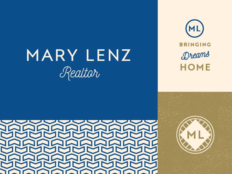 Mary Lenz Realtor logo branding real estate realtor