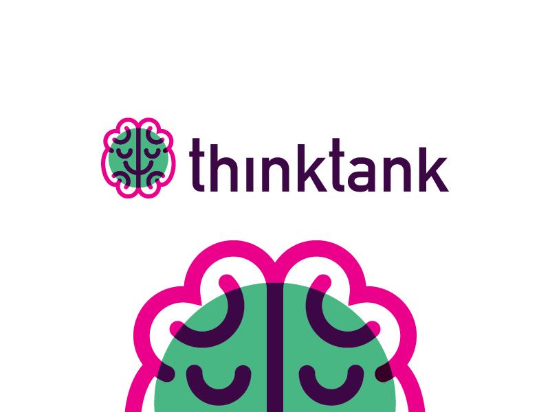 thinktank brain think tank branding logo
