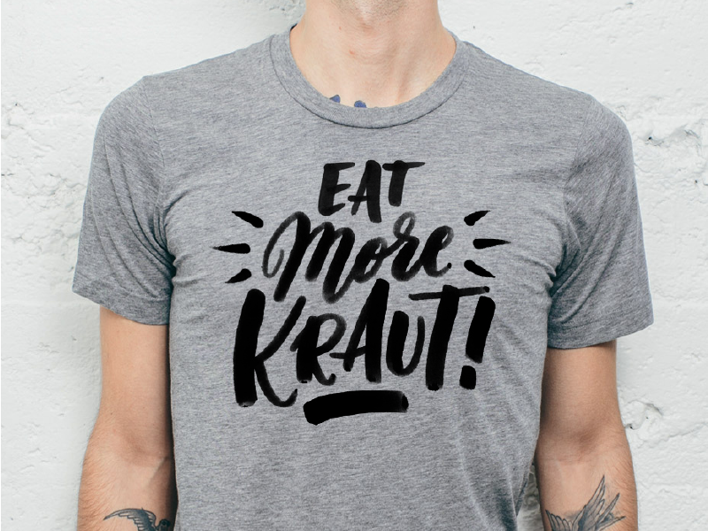 Eat More Kraut lettering t-shirt