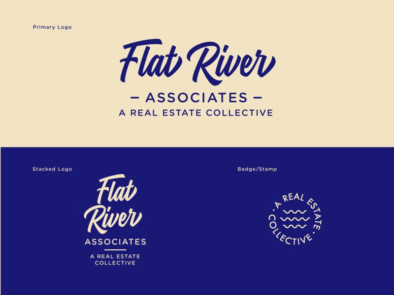 Flat River Finals branding design script badge art direction collective realtor real estate logo
