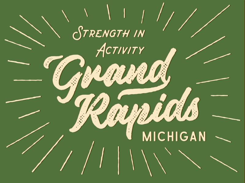 Grand Rapids practice green type horseplay