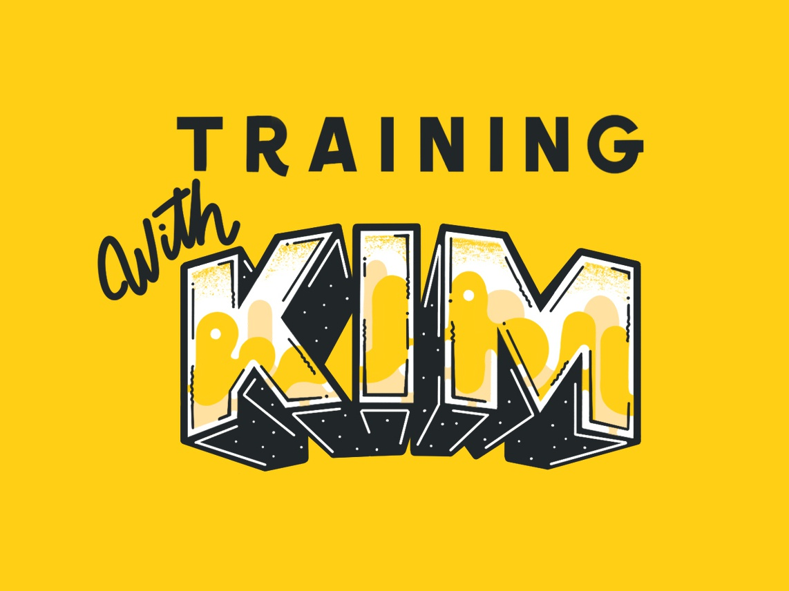 Training With Kim lettering artist title lettering