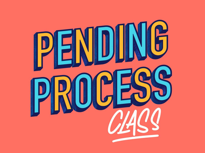 Pending Process procreate lettering type design real estate realtor
