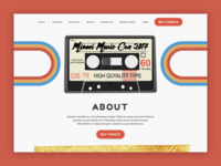 Vintage 70s Inspired Landing Page