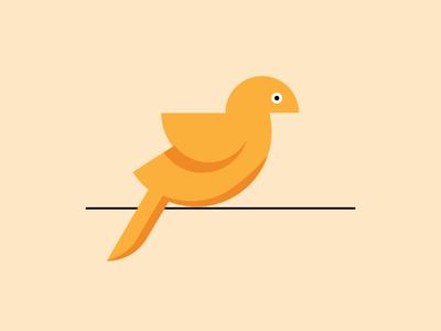Semi circle bird