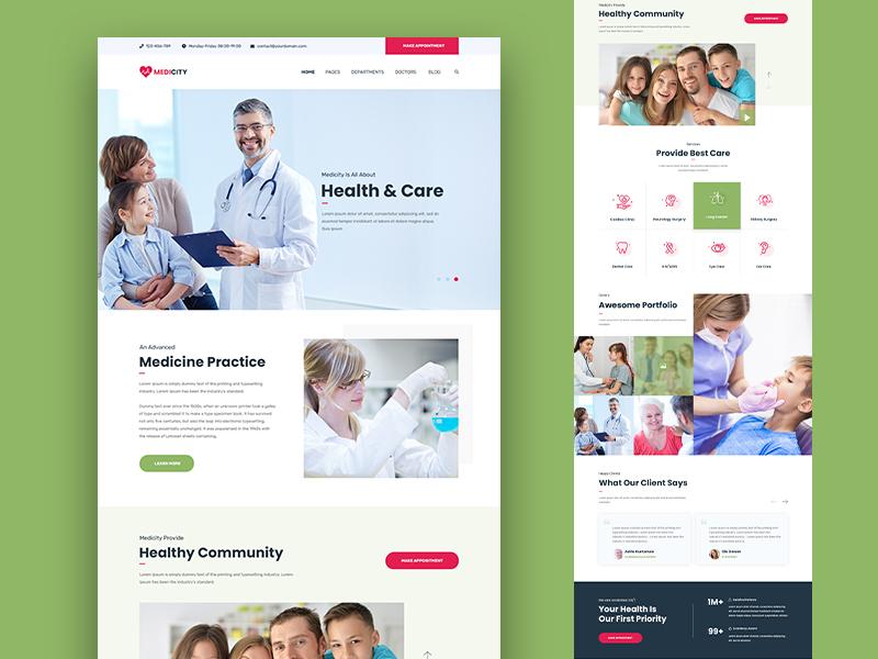 Medicity web design medical template design clinic hospital uidesign uxdesign website