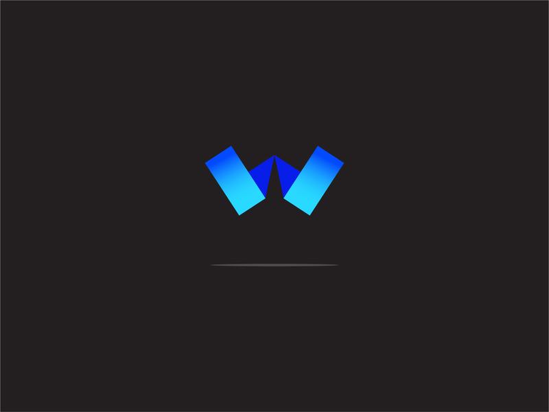W Typography simple logo designer logo gradient color logoinspiration ui ux logotype inspiration typography logo w
