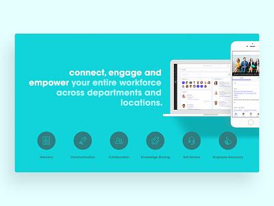 Product Slide Design features icons product information design graphic design design deck deckrooster deck design communication design