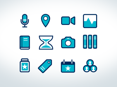 Icons for upcoming app app illustration icons