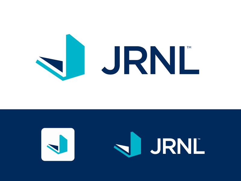 JRNL Logo  book journal journaling logo