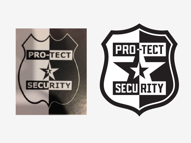 Pro-tect Security Logo star shield security