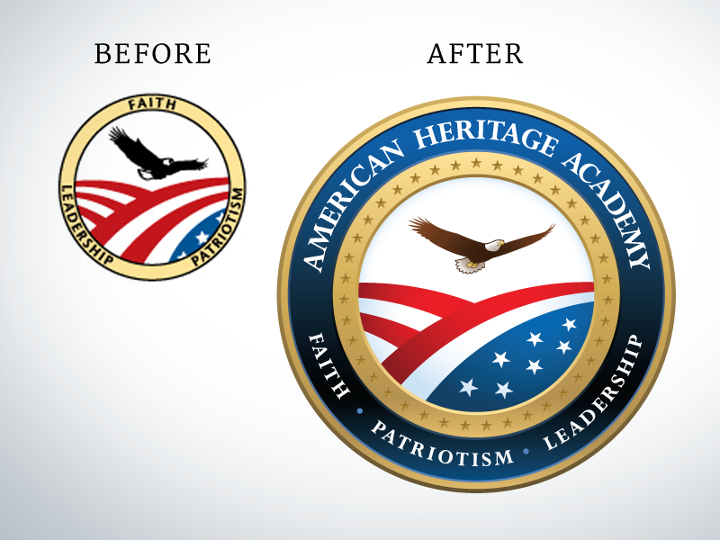 AHA Before & After circle shield school