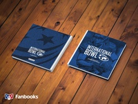 USA Football International Bowl Fanbook Cover blue photo book sports football book cover