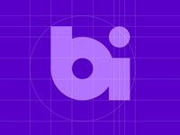 BI Logo Geometry design logo