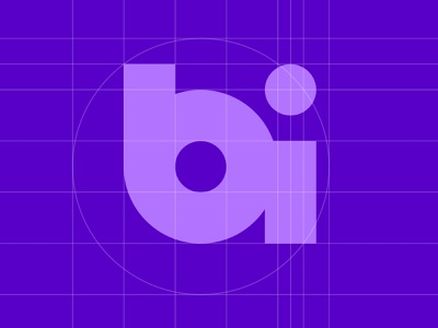 BI Logo Geometry design logo