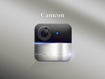 Camcon Icon flare lens metal gradients photoshop camera dribbble icon app
