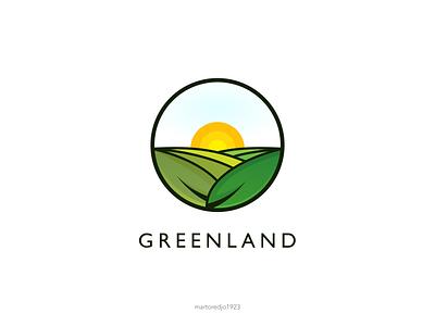 Greenland leaf logo greenland logo typography ux vector ui illustration icon graphic design design branding logo