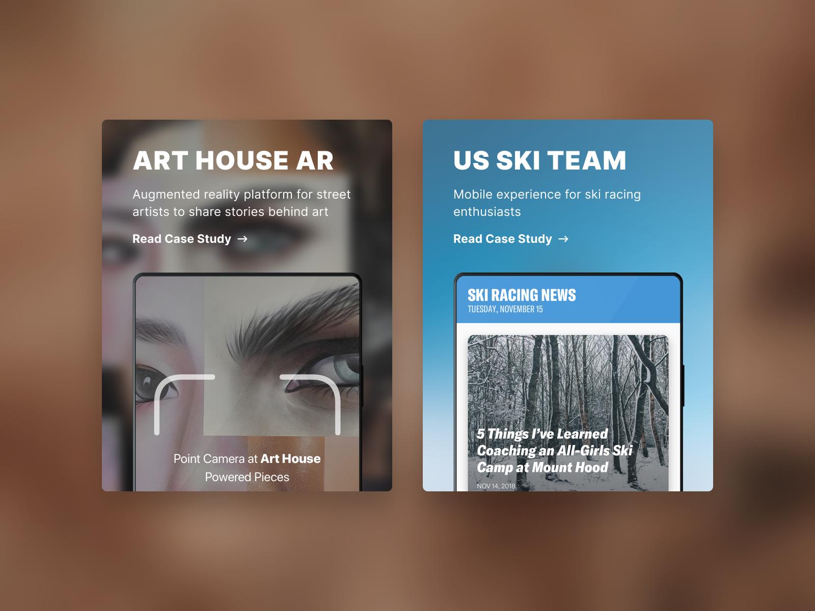 Portfolio Case Study Cards UI