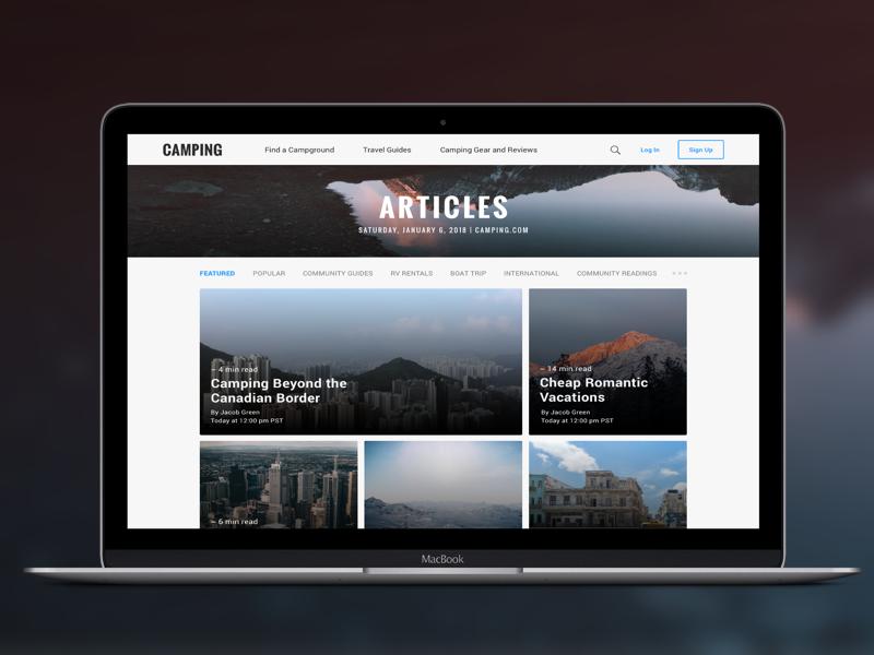 Camping Articles Desktop