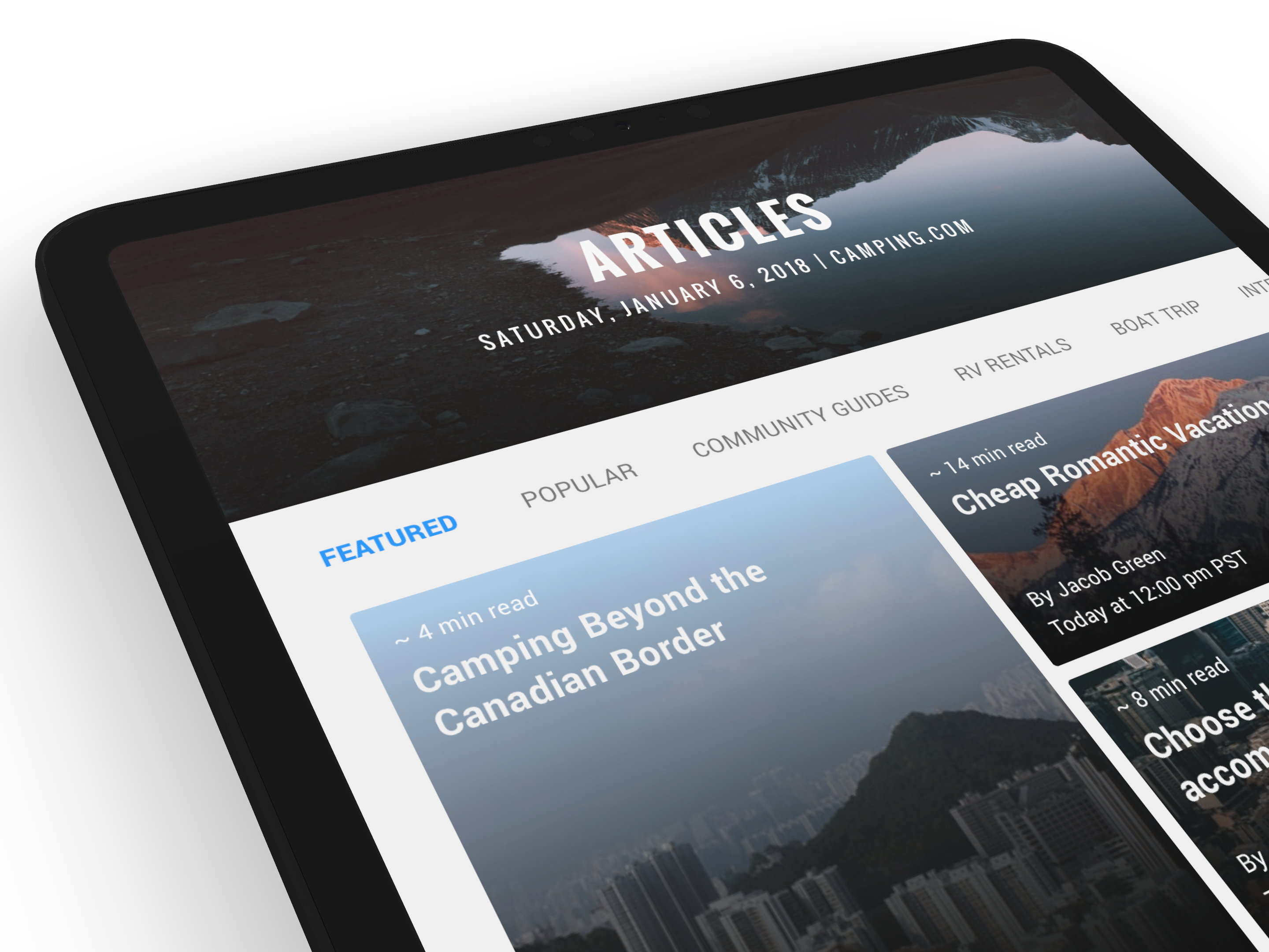 Camping.com Redesign - Articles