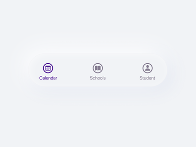 Navigation Menu UI Exploration education app skeuomorphism neomorphism sfsymbols navigation design navigation menu navigation navigation bar navbar nav clean app design mobile ux ui