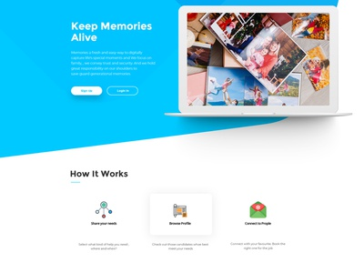 Memories websitedesign user-friendly design branding
