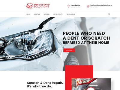 Mobile Auto Body Solutons websitedesign user-friendly design branding