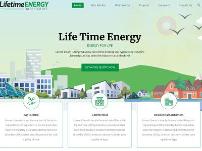 Lifetime Energy illustration websitedesign user-friendly design branding