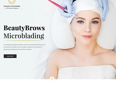 Beauty Brows ui websitedesign user-friendly design branding