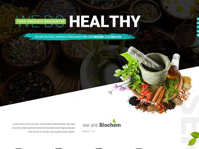Biochem websitedesign user-friendly design branding