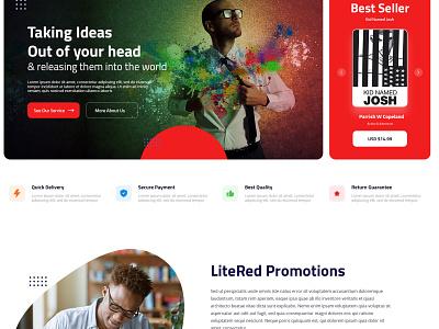 Lite Red logo ui websitedesign user-friendly design branding