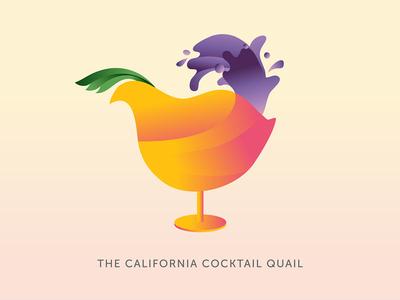 California Cocktail Quail - logo proposal