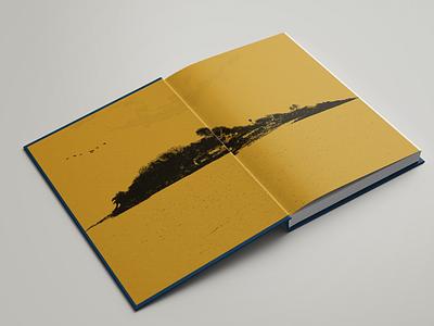 Robinson Crusoe Endpages, Deluxe Edition, Concept book design graphic design